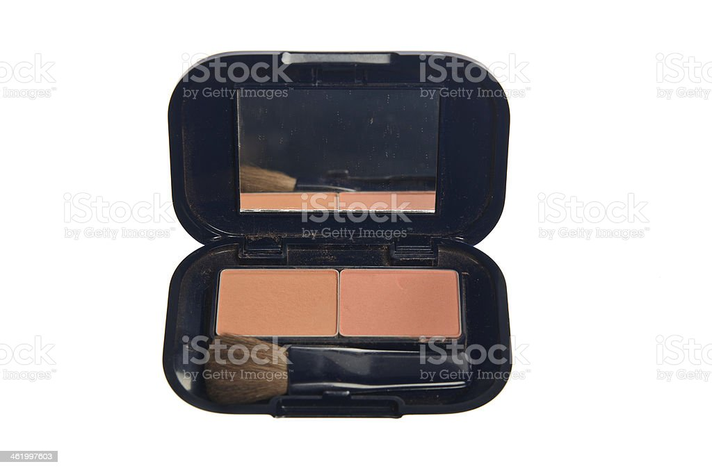 set of two colors blush on stock photo