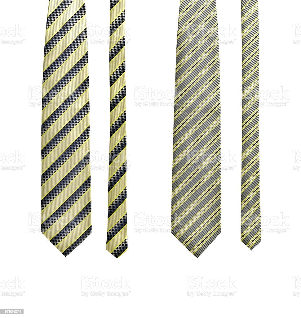 Set of two ties royalty-free stock photo