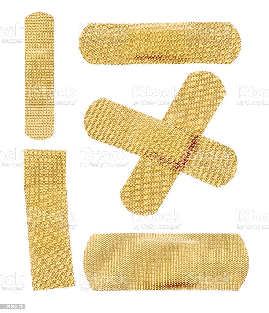 Set of various adhesive bandage stock photo