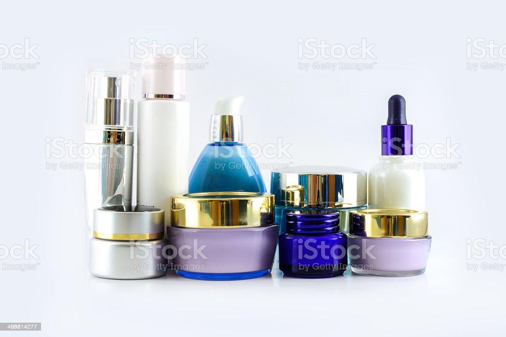 Set of various cosmetics stock photo