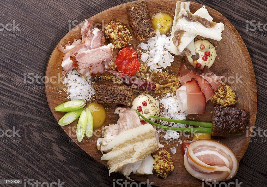 Set of Various Ham royalty-free stock photo