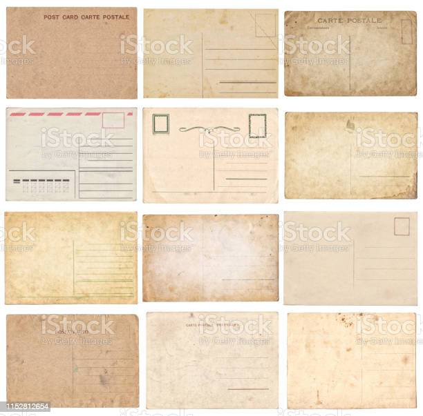 Set of various old vintage postcards isolated on white picture id1152812654?b=1&k=6&m=1152812654&s=612x612&h=b iovi3lz2ioprpyjyq5rp76my95ivauhtd438jjomk=