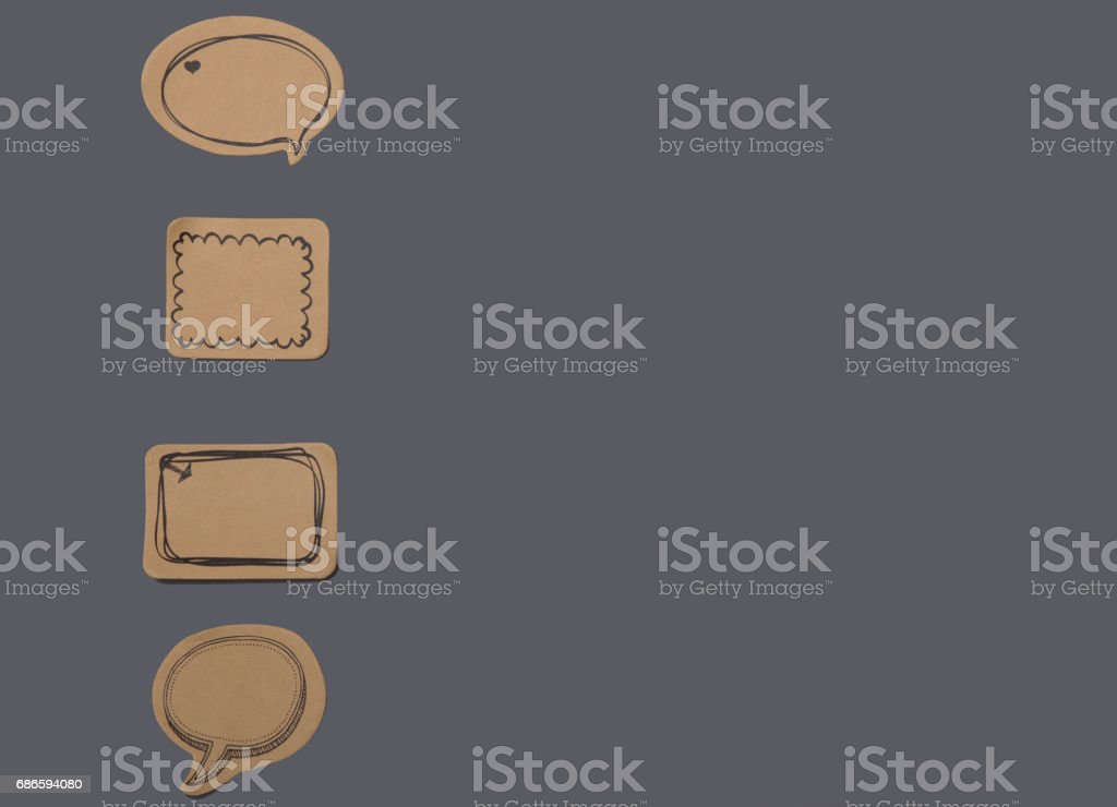 Set of various speech bubbles royalty-free stock photo