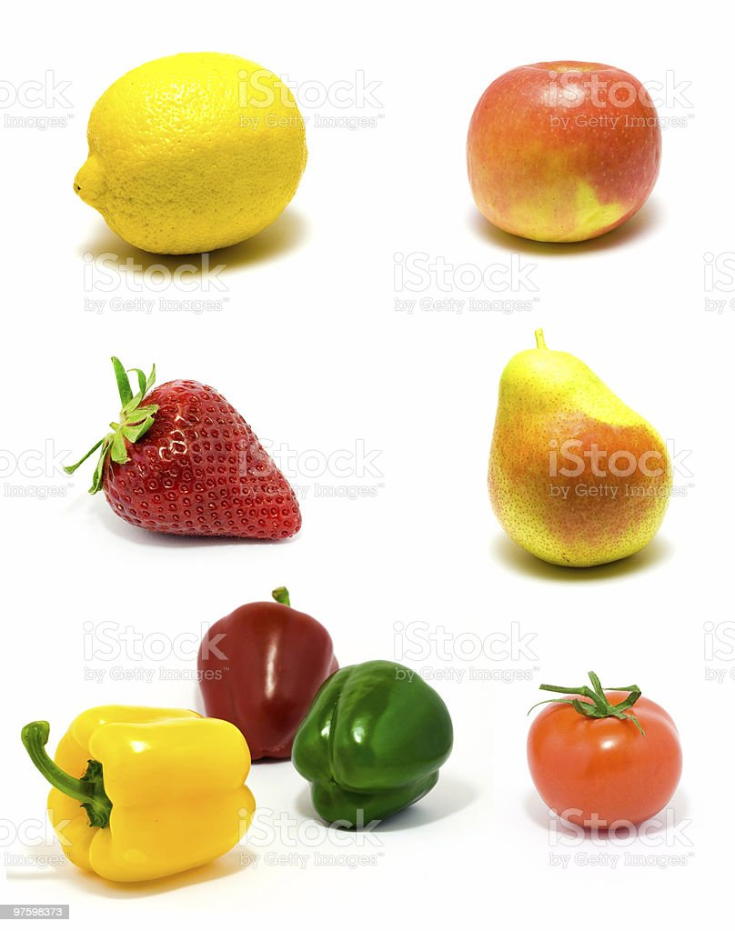 Ensemble de fruits et légumes photo libre de droits