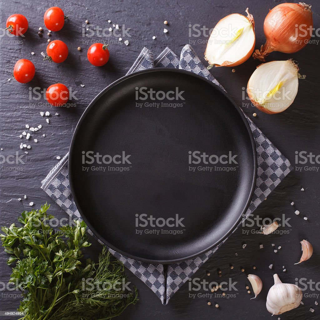 Set of vegetables and spice for cooking. stock photo