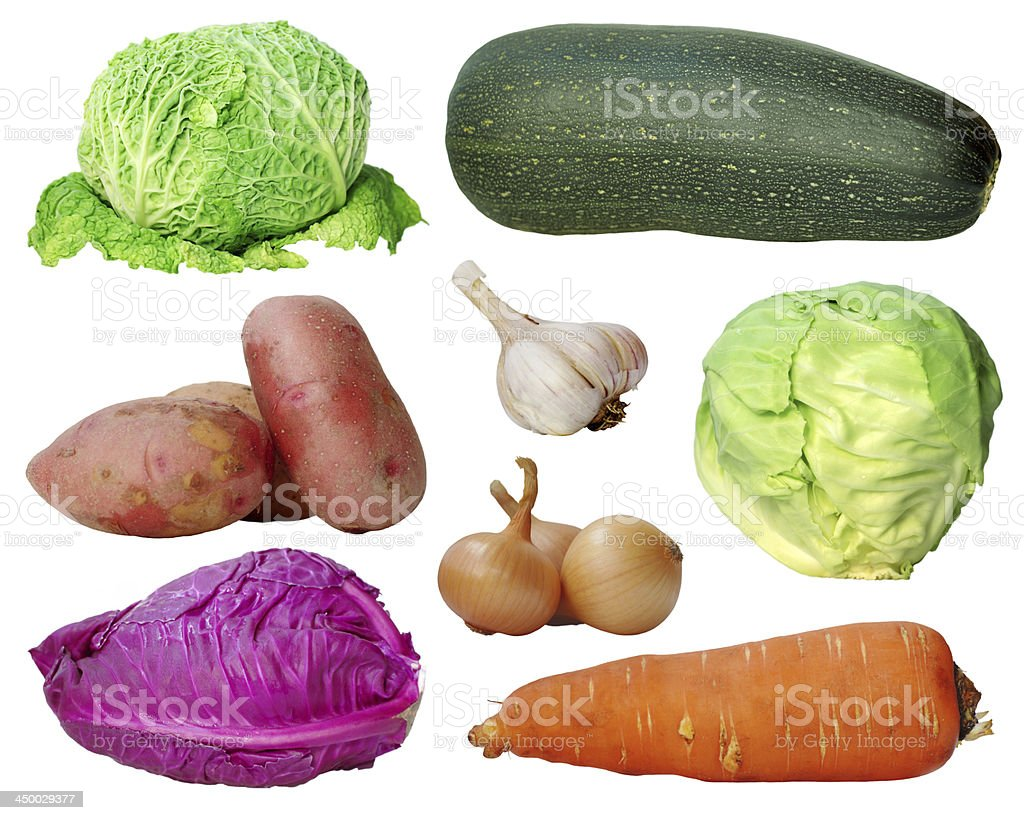 set of vegetables stock photo