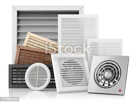 istock Set of ventilation grilles 578806332