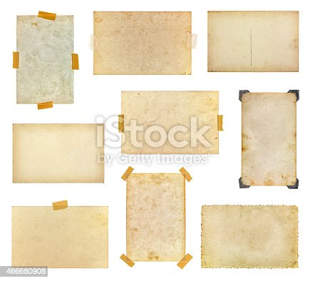istock Set of vintage photos 466680908