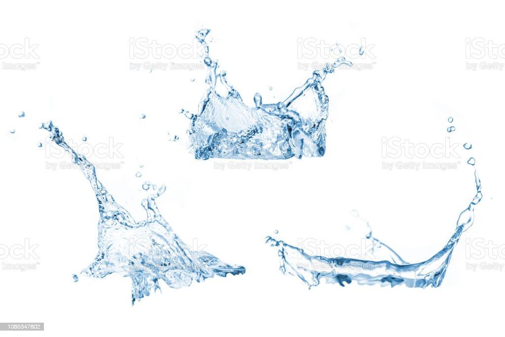 Conjunto de água espirra coleção foto de stock royalty-free
