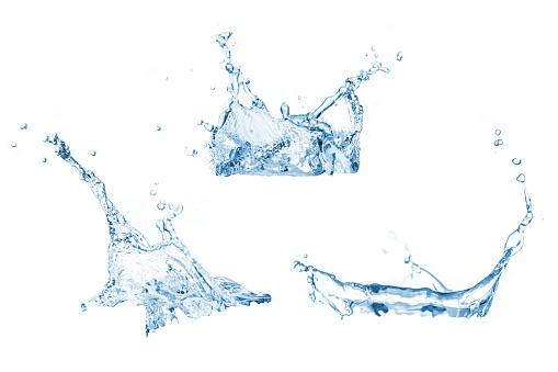Set Of Water Splashes Collection - zdjęcia stockowe i więcej obrazów Abstrakcja
