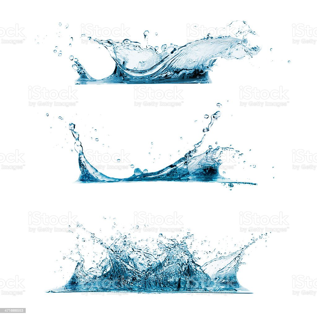 Set of Water Splashes royalty-free stock photo