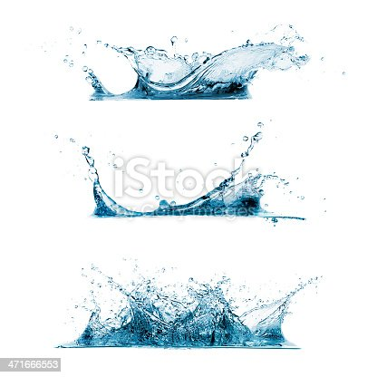 istock Set of Water Splashes 471666553