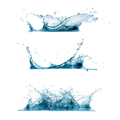 Zestaw Rozpryski Wody - zdjęcia stockowe i więcej obrazów Abstrakcja