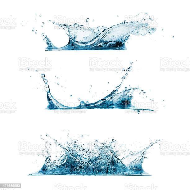 Photo of Set of Water Splashes