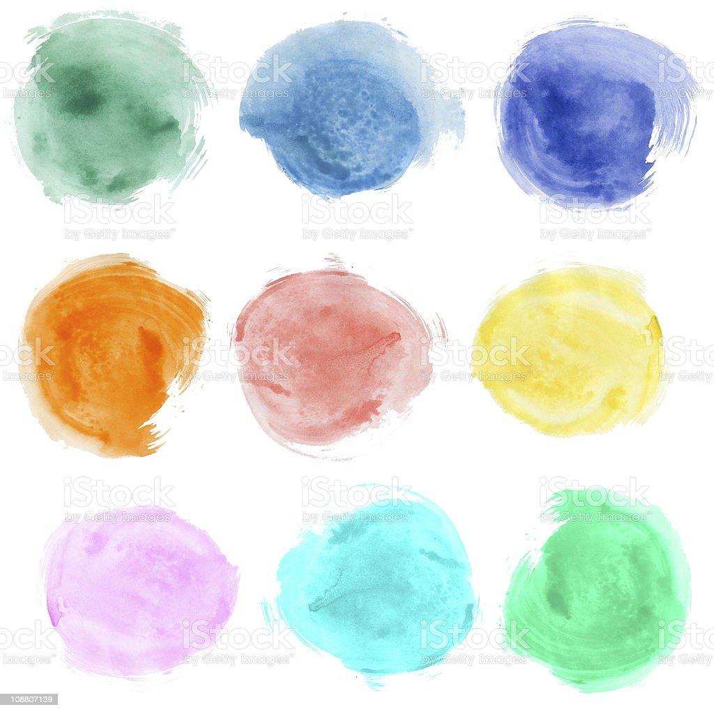 Set of watercolor blobs royalty-free stock photo