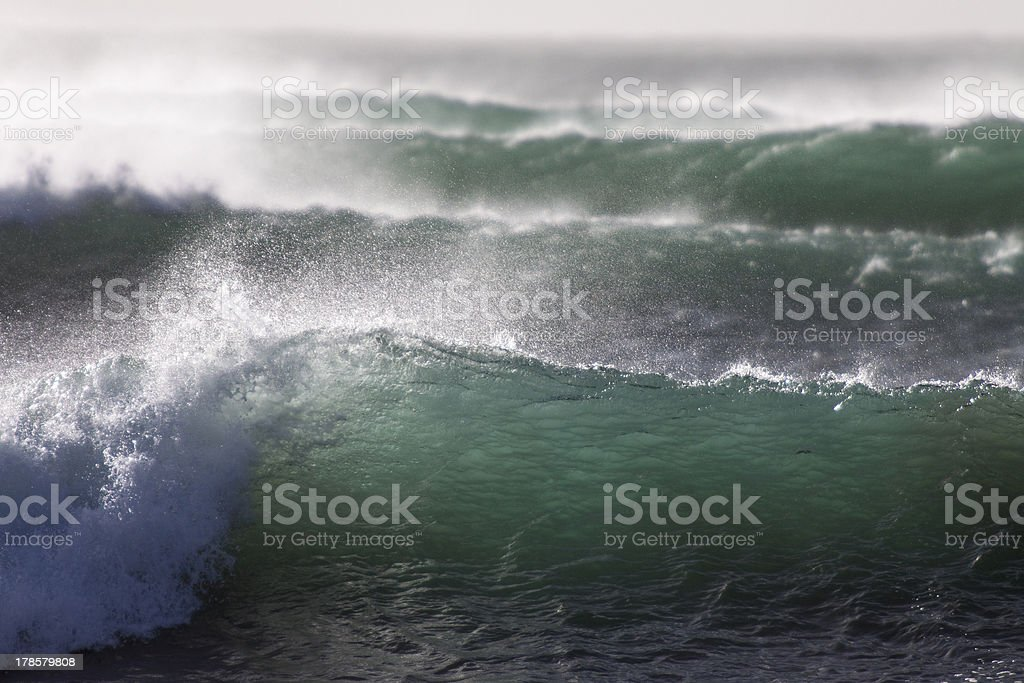 set of waves stock photo