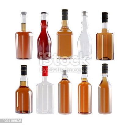Bottle, Whiskey, Alcohol, Blank, Template, Mockup, White background