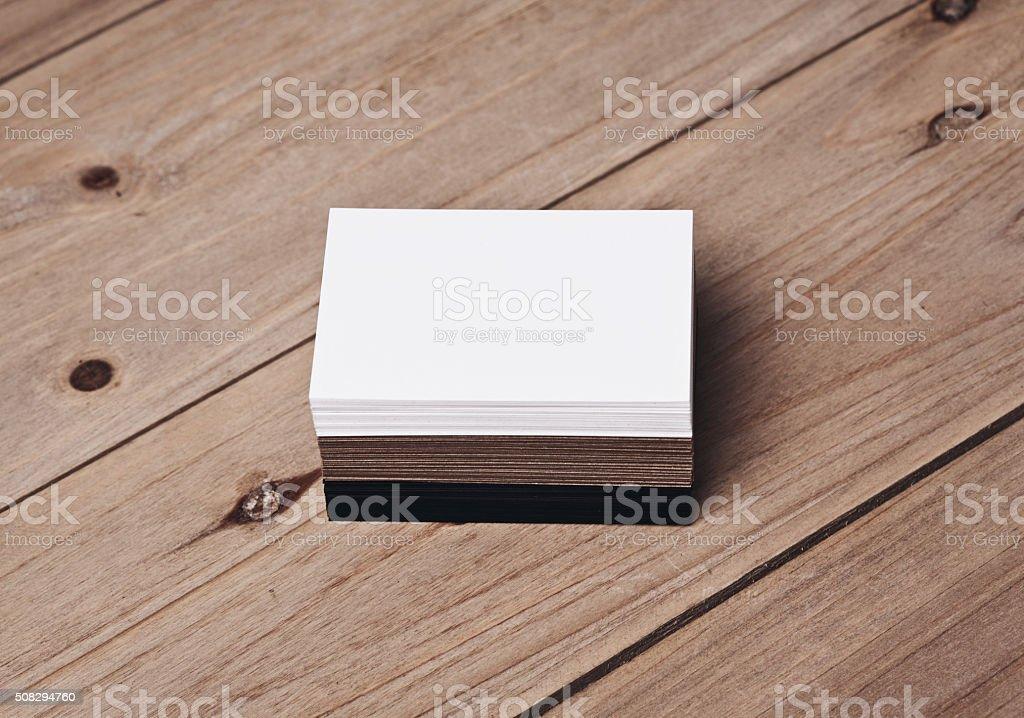 Ein Satz Von Weiß Und Schwarz Und Handwerk Visitenkarten Auf