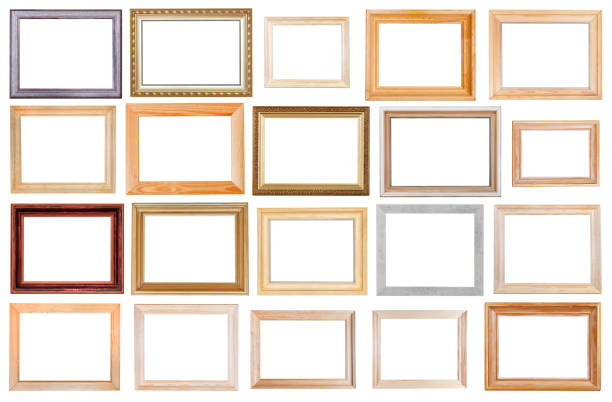 Royalty Free Picture Frame In Ornate Wide Gold White Isolated ...