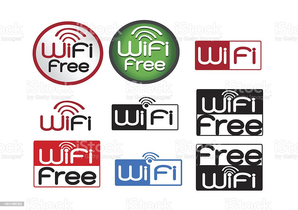 Set of wifi icons for business royalty-free stock photo