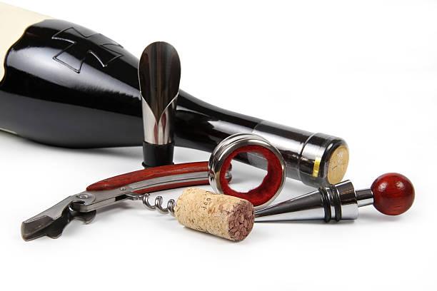 Ein Satz von Wein-Accessoires – Foto
