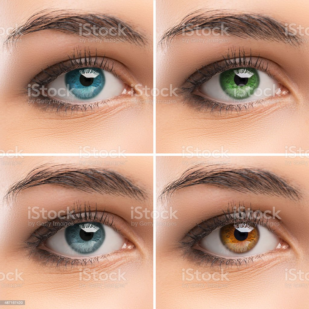 Set of women's Eyes stock photo