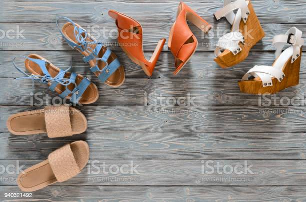 Set of womens shoes on grey wooden background spring summer flat lay picture id940321492?b=1&k=6&m=940321492&s=612x612&h=vpolnkjxl6rmvvccapwi0wav 33nvxhhgbasersyiym=