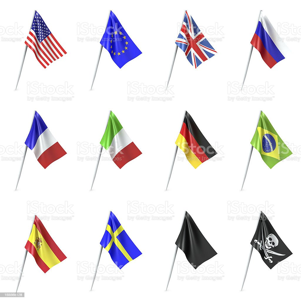 Conjunto de Bandeiras - foto de acervo