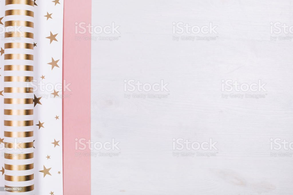 Set of wrapping paper stock photo