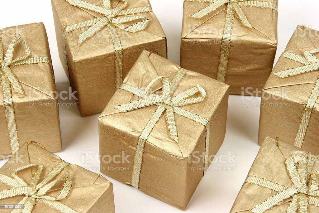 Set of Xmas gifts royalty-free stock photo