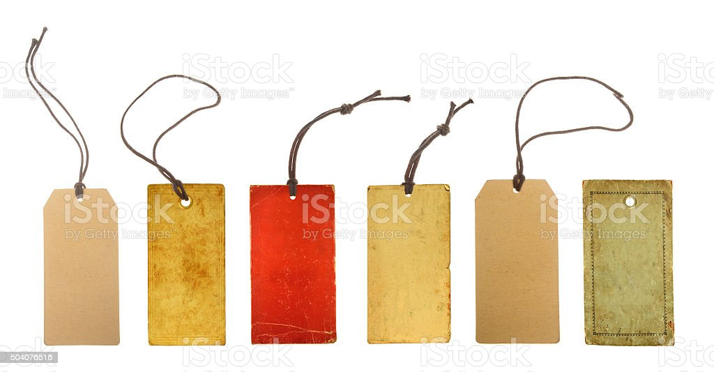 set paper price tags stock photo