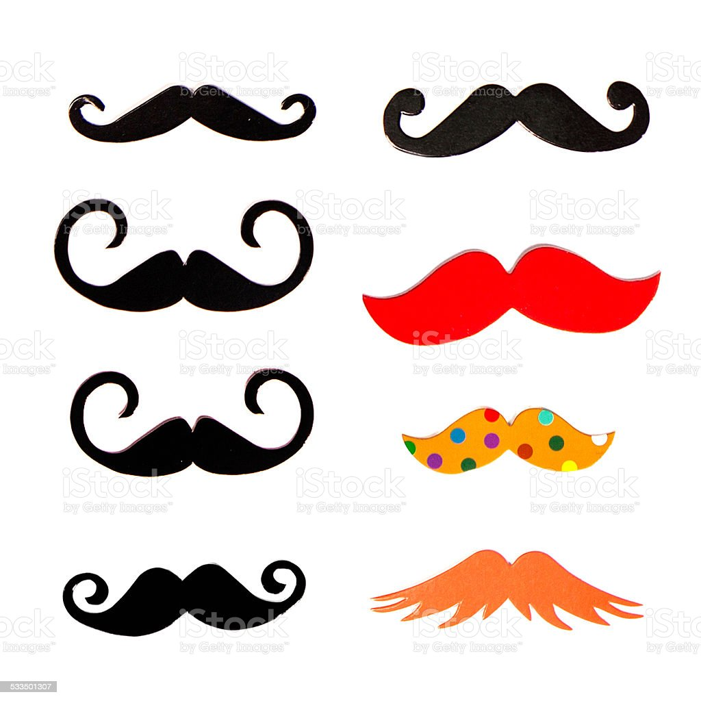 Set photo props for the holiday. Moustache stock photo