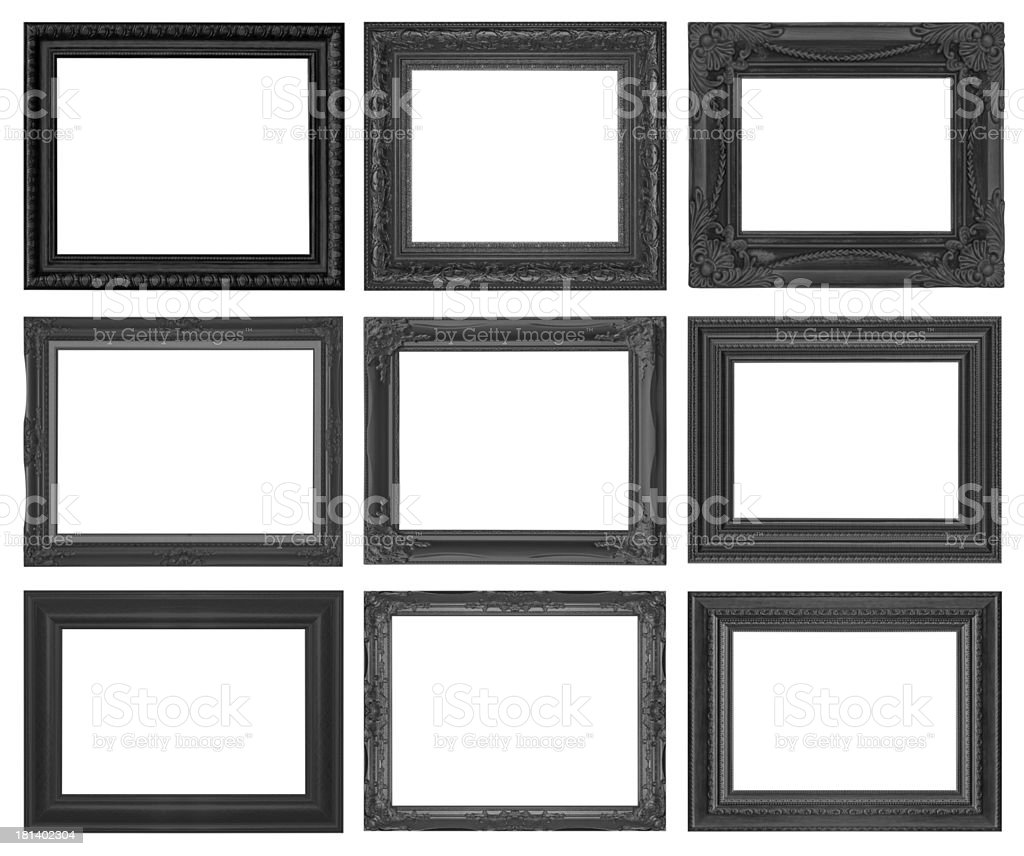 Set picture frame stock photo