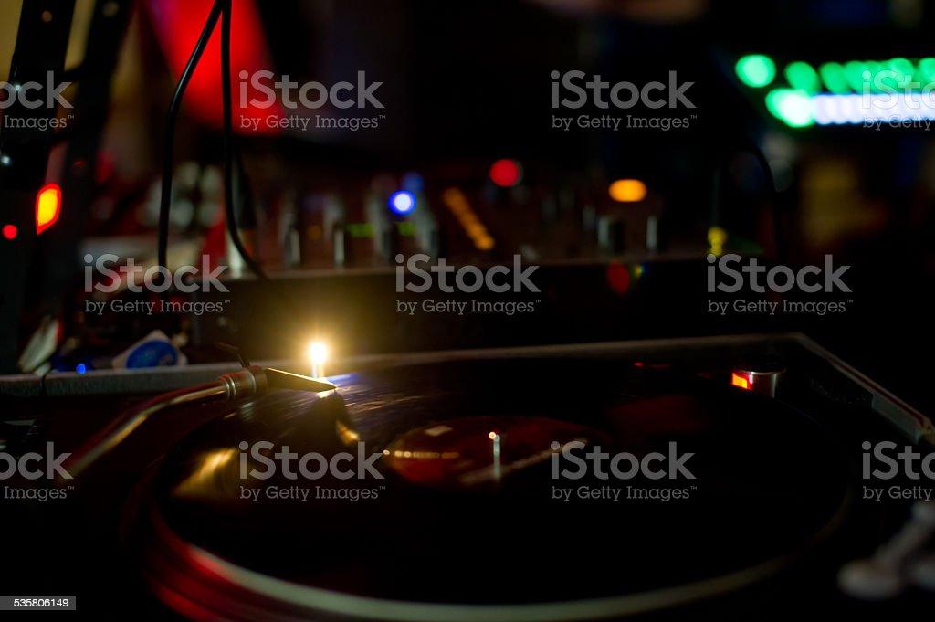 DJ set stock photo