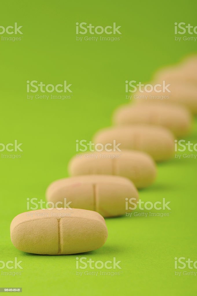 set  red tablets on green background royalty-free stock photo