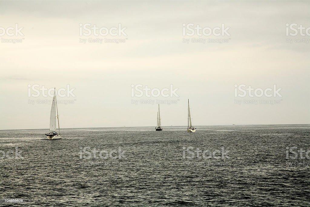 Set sail stock photo