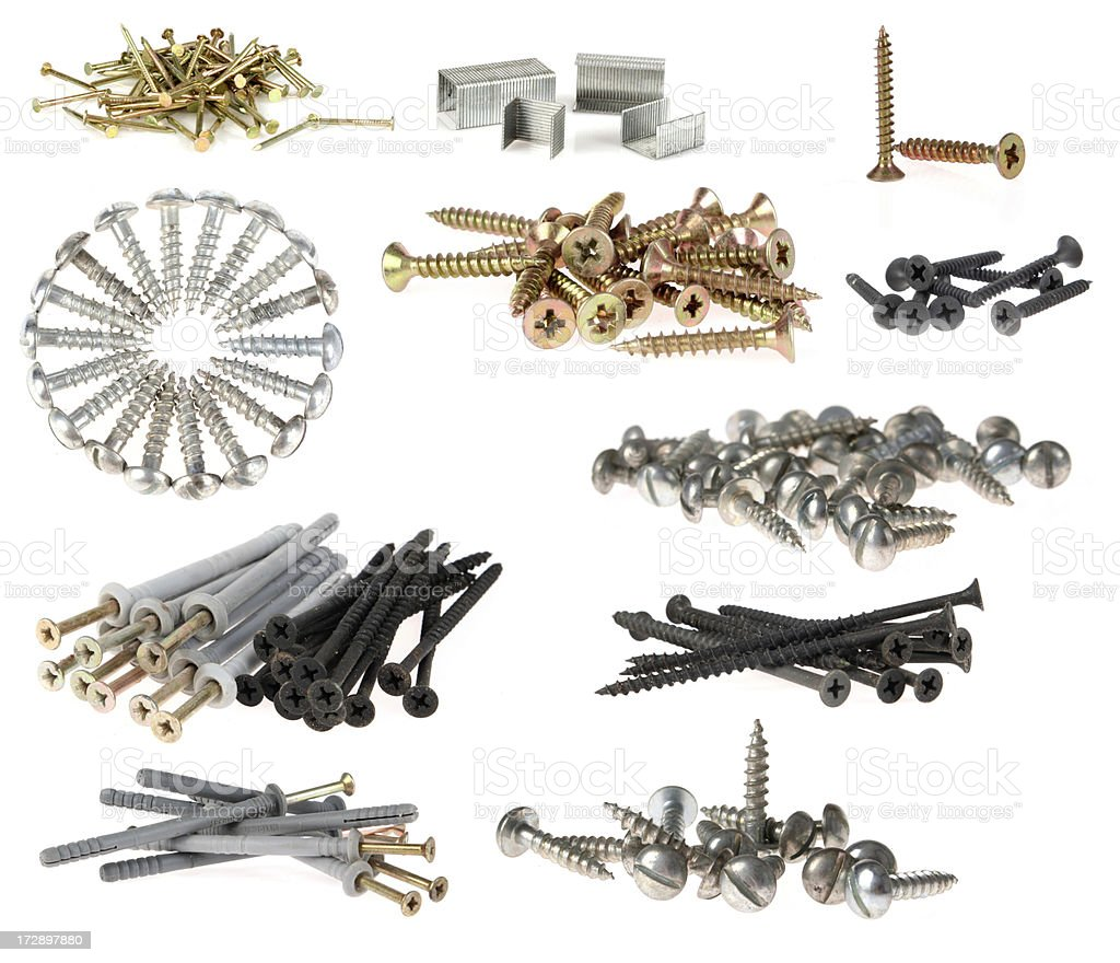 set screws for wood royalty-free stock photo