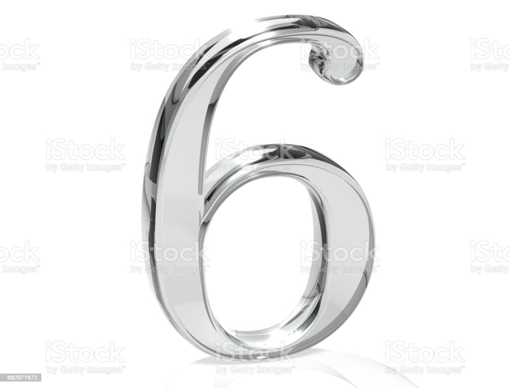 3D Set Silver Number on white background royalty-free stock photo