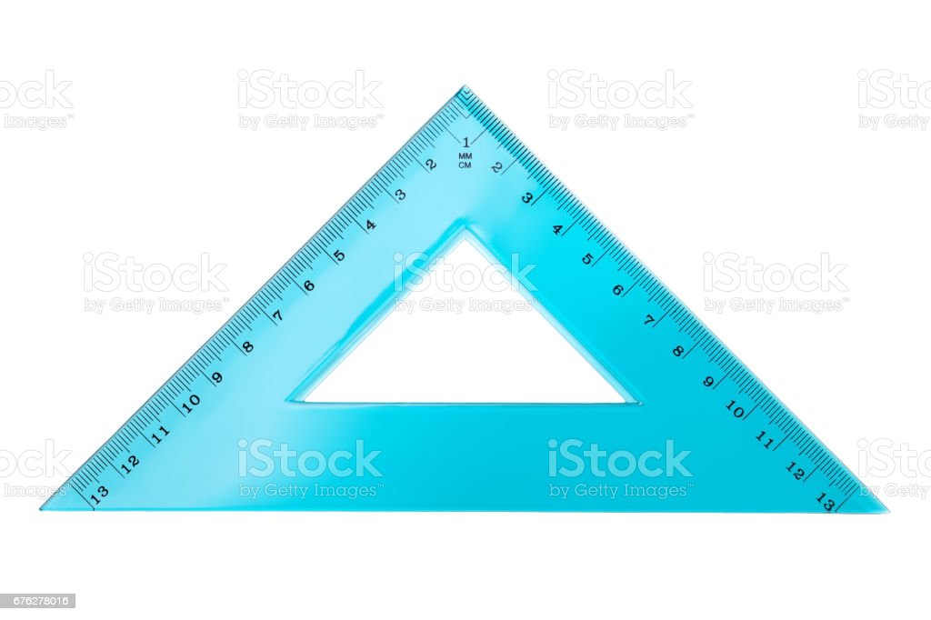 Set Square Triangle Isolated on White Background stock photo