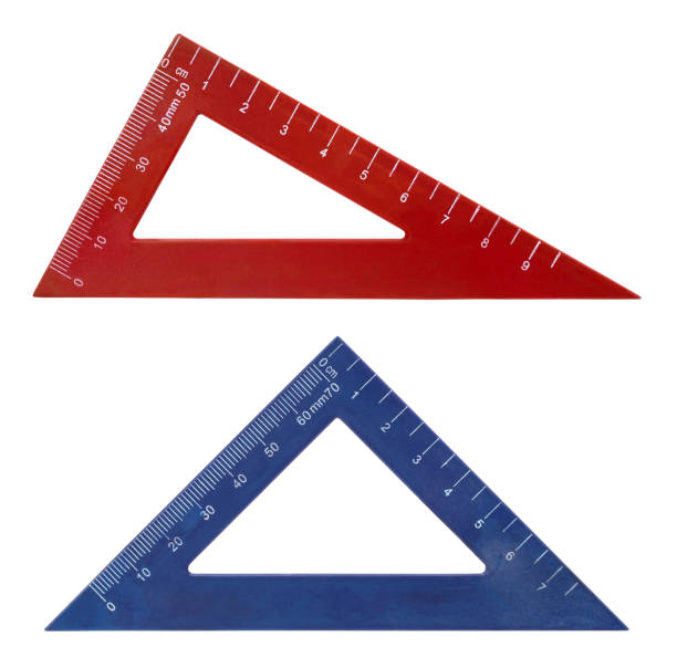 Set square triangle rulers Here are two set squares triangle rulers. right angle stock pictures, royalty-free photos & images