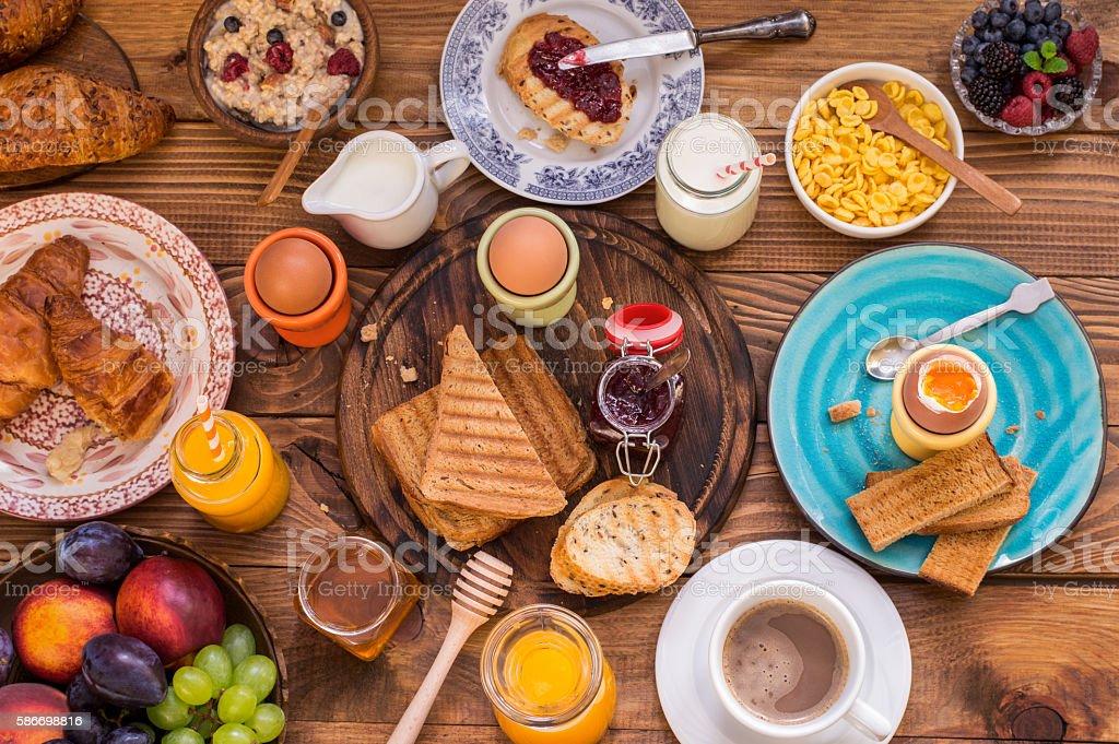 Set The Table for Breakfast - Foto de stock de Alimento libre de derechos