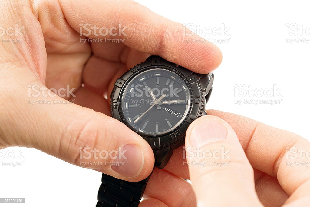 Set the time is present stock photo