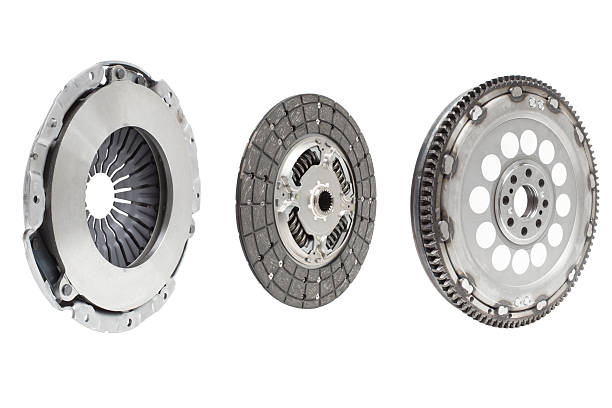 Set to replace the automobile clutch stock photo