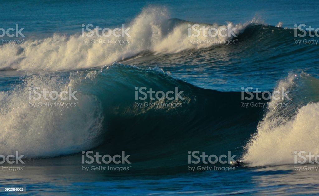 set waves stock photo
