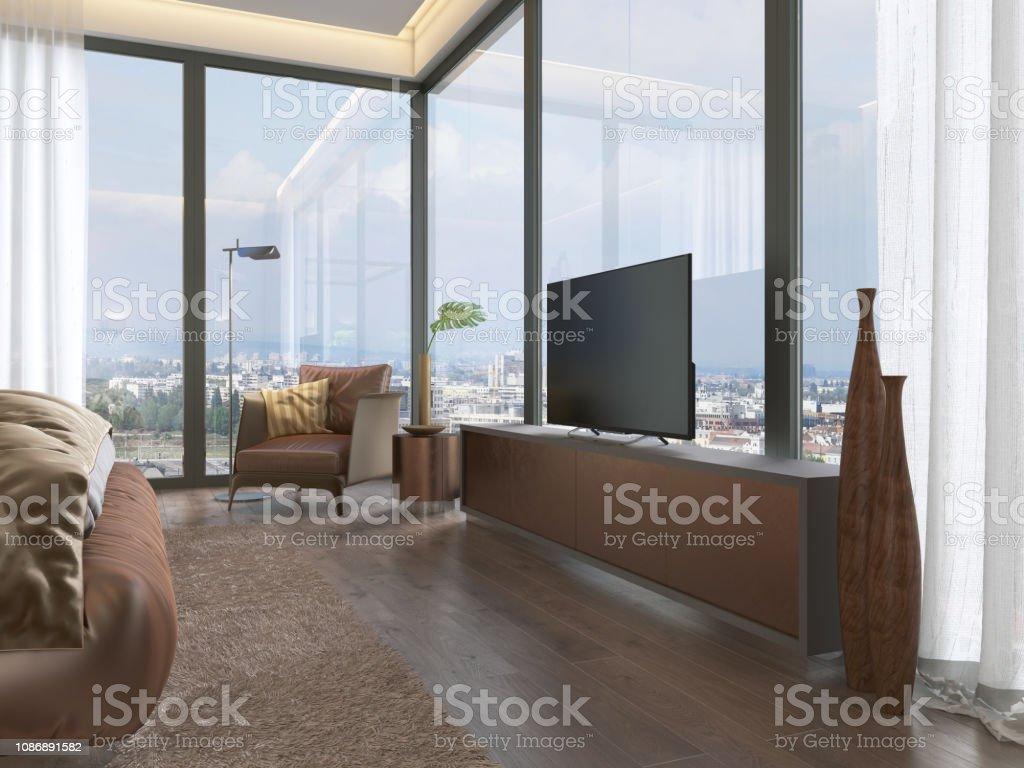 Meuble Tv Grande Taille photo libre de droit de un téléviseur avec un meuble tv en
