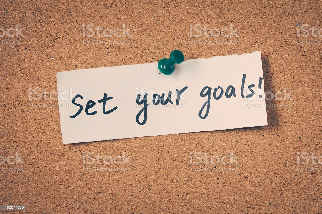 Set Your Goals stock photo