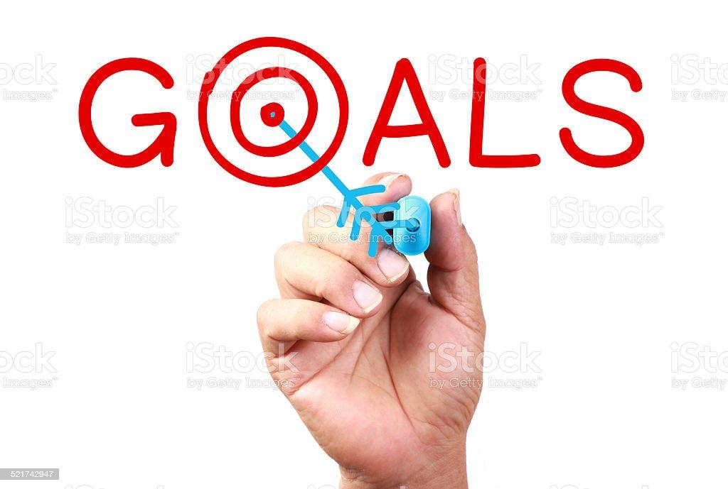 Set Your Goals stock photo