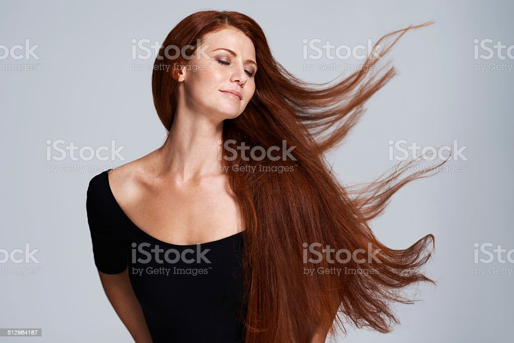 Set your hair free stock photo