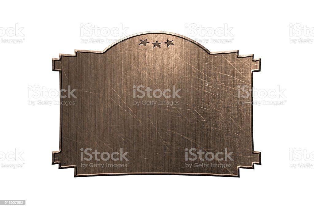 Set9. Old metal signboard. stock photo