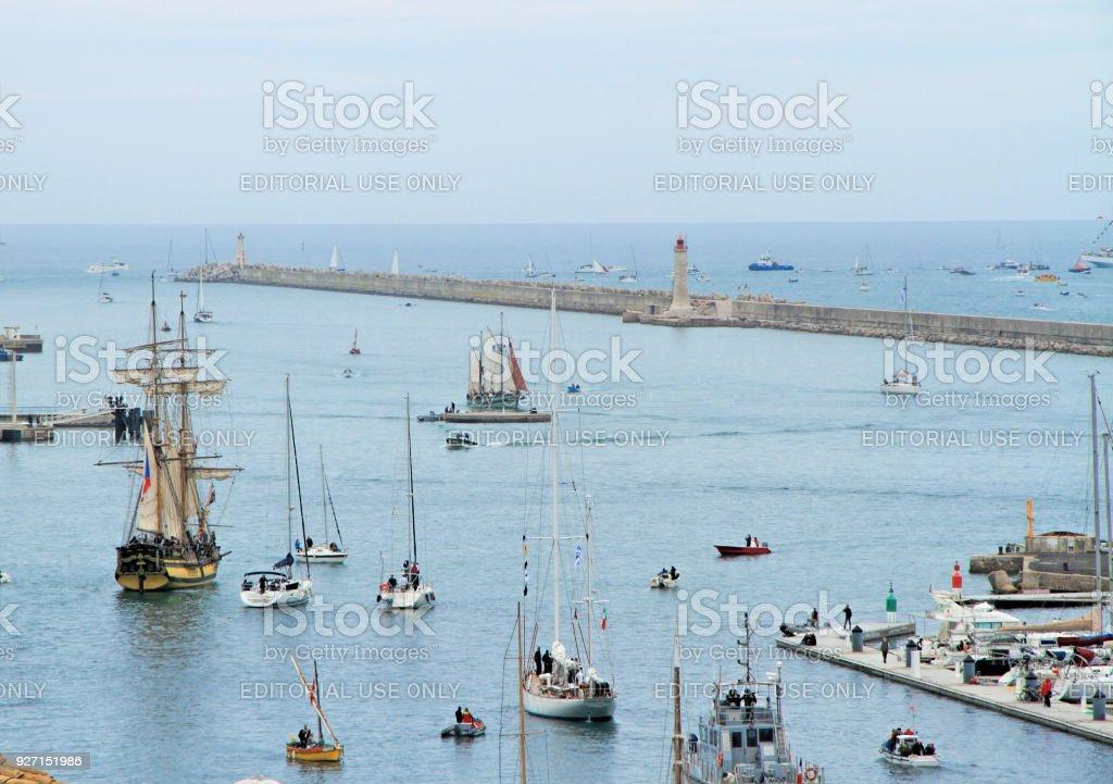 Sete, France stock photo